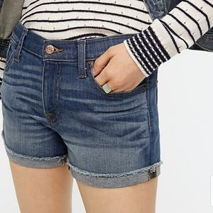 *J. Crew Merrill Wash Stretch Jean Shorts Size 4